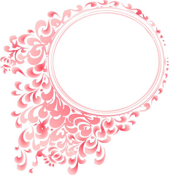 Pink round frame png. Pretty borders and frames