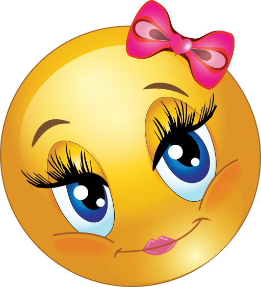 Smiley clipart study. Cute girl faces lovely graphic library stock