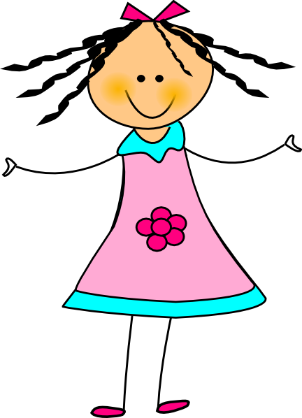 Pretty clipart happy girl are. Clip art at clker