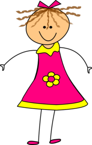 Pretty clipart happy girl are. Pink clip art at