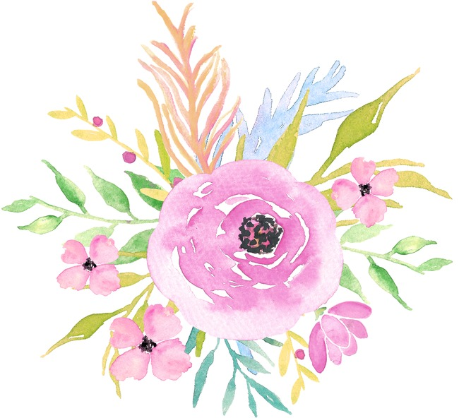 Pretty clipart pretty floral. Beautiful hand painted watercolor