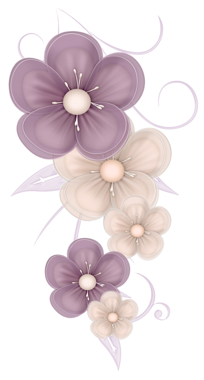 Pretty flowers png. Cute decor clipart picture