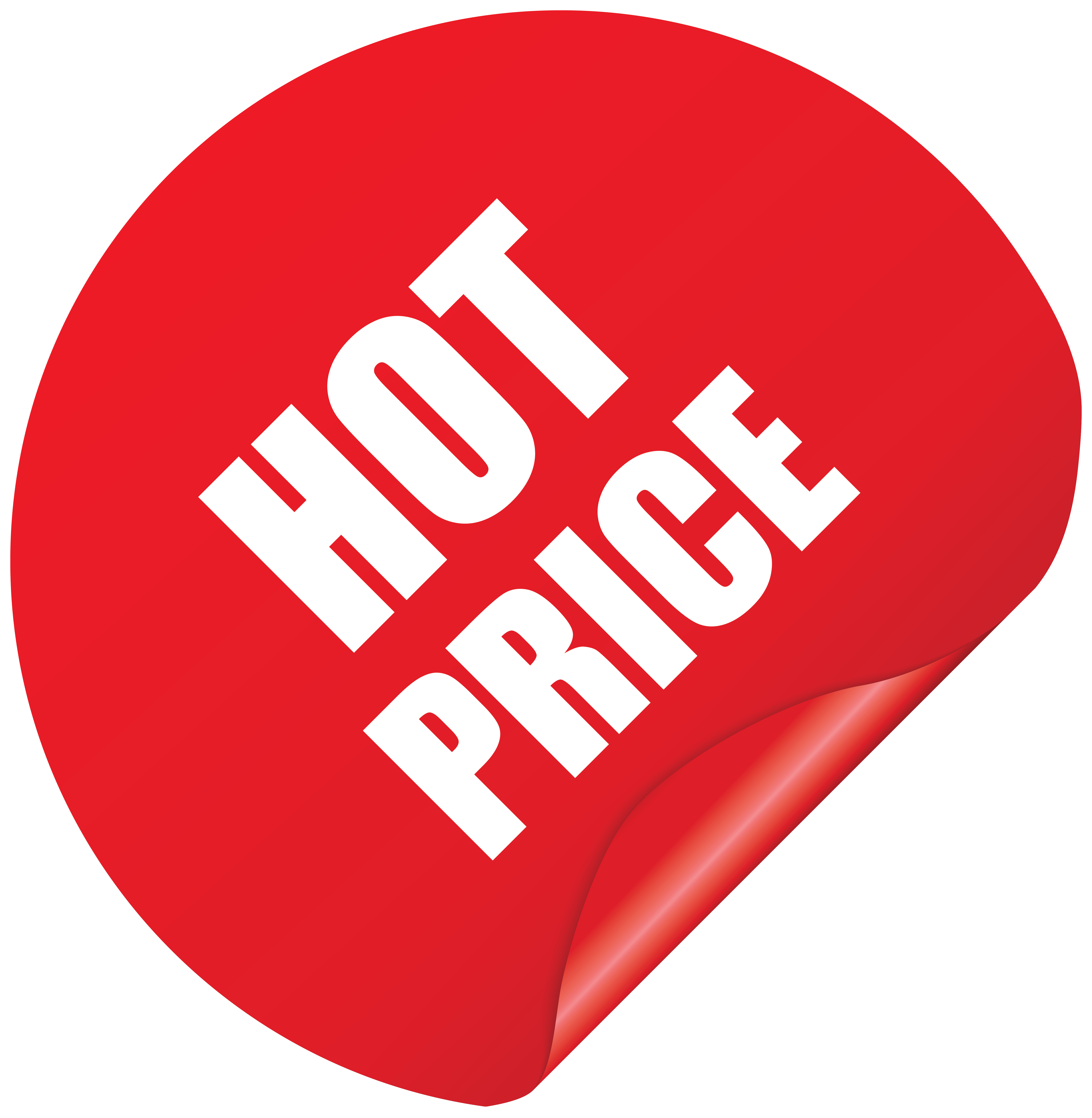 Transparent prices. Hot price sticker png