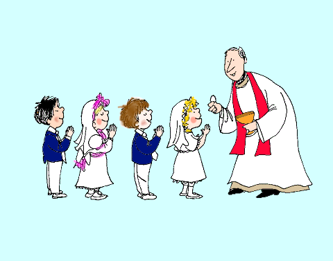 Priest clipart first communion child. Holy diary of a