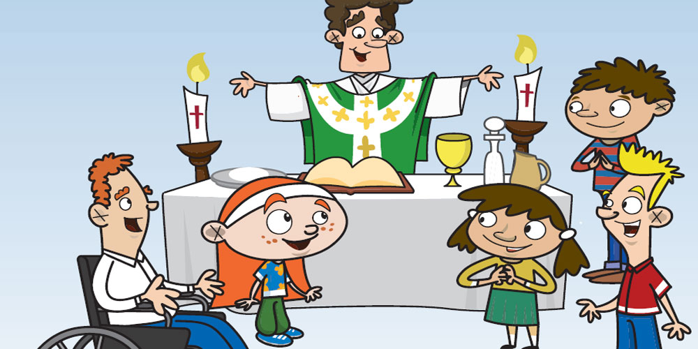 Priest clipart first communion child. Do this in memory