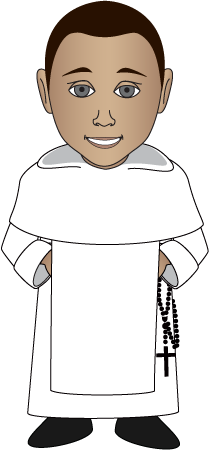 Monkas clipart roman catholic priest. Free medieval cliparts download