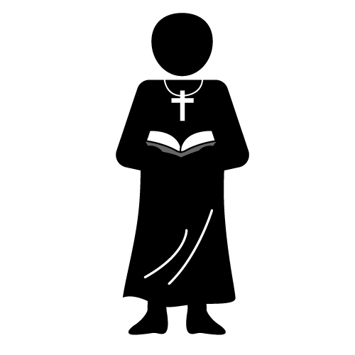 Priest clipart outfit. Black and white google