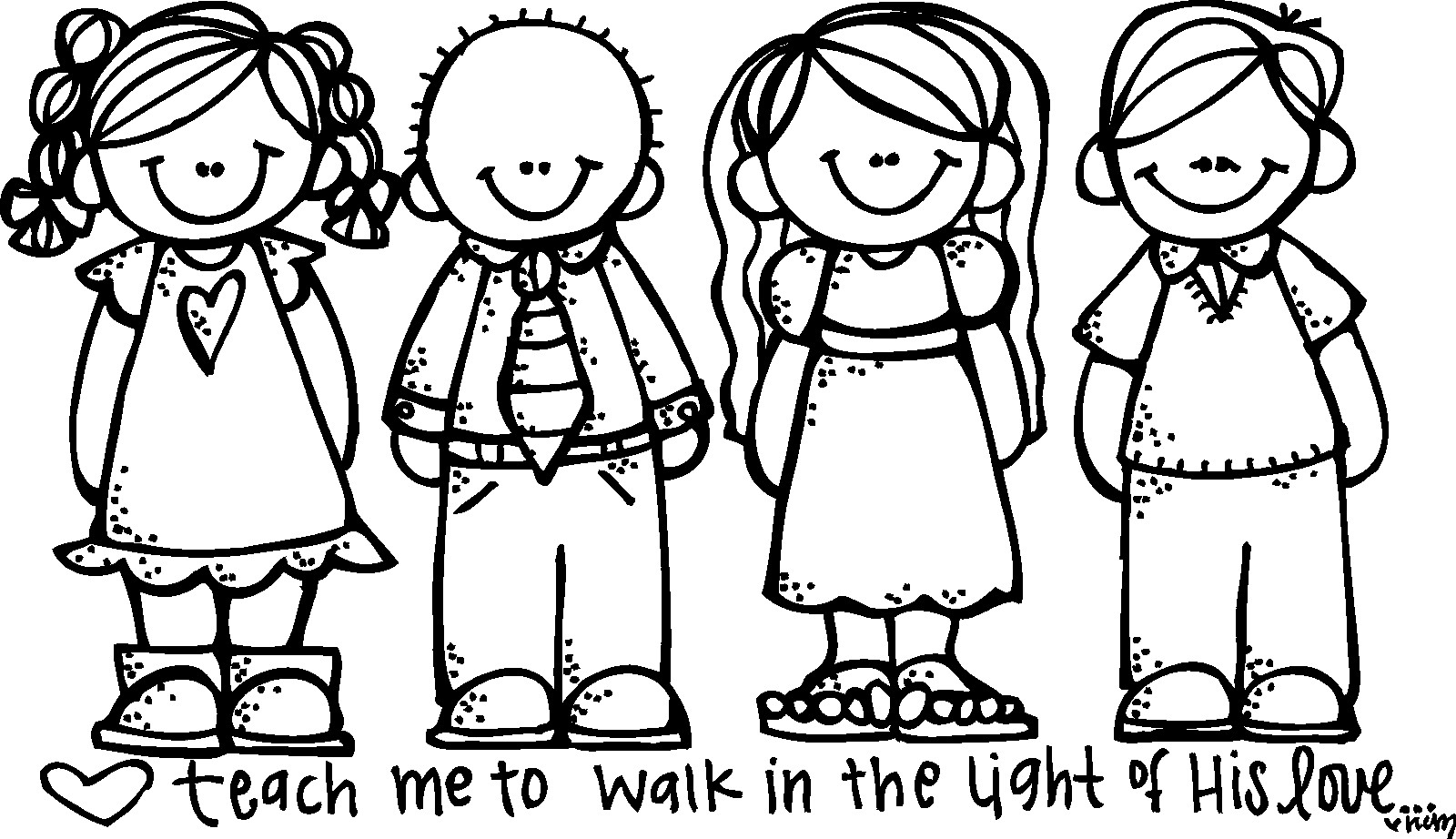 Primary clipart. Free lds to color