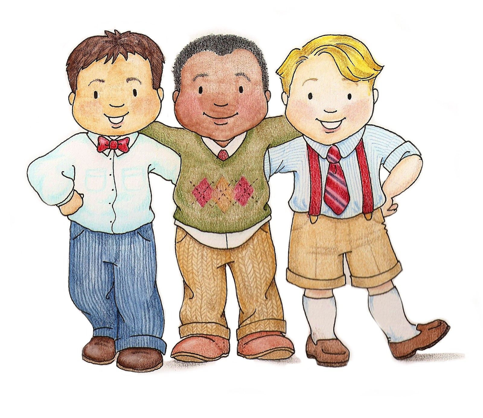 Boys clipart. Susan fitch design primary