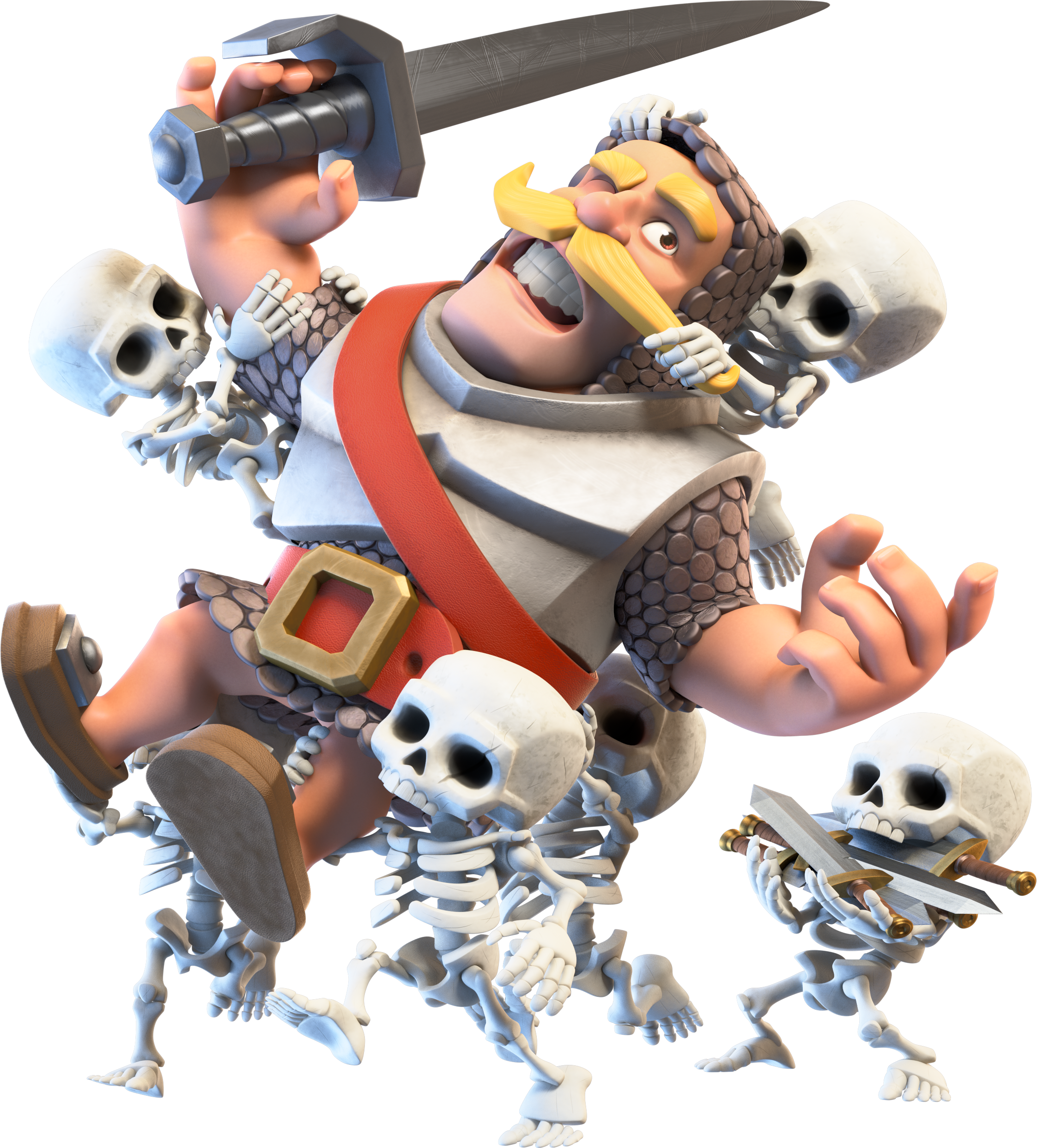 Princess clash royale png. Image knight and skeletons