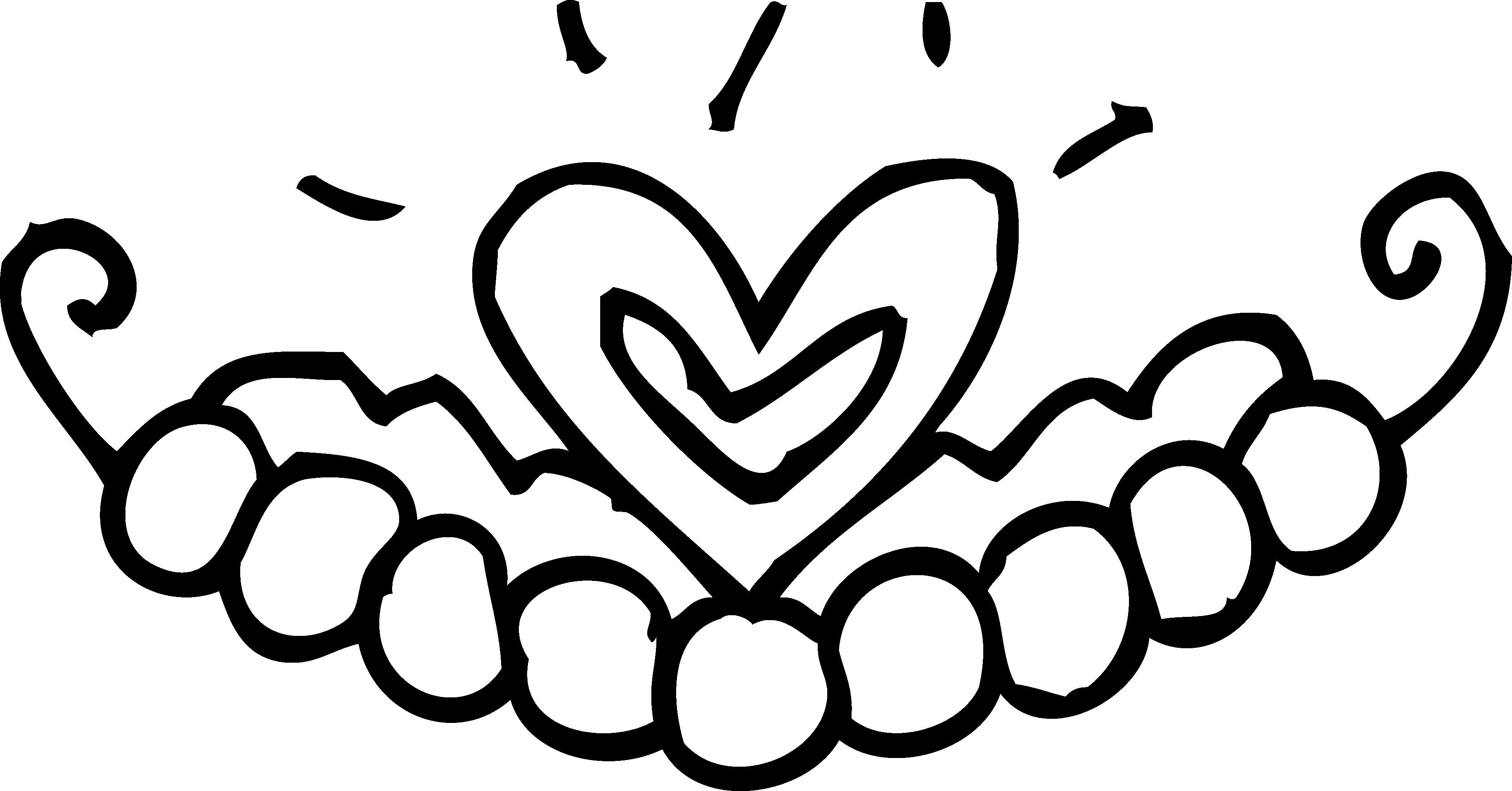 Royal drawing heart. Princess tiara coloring page