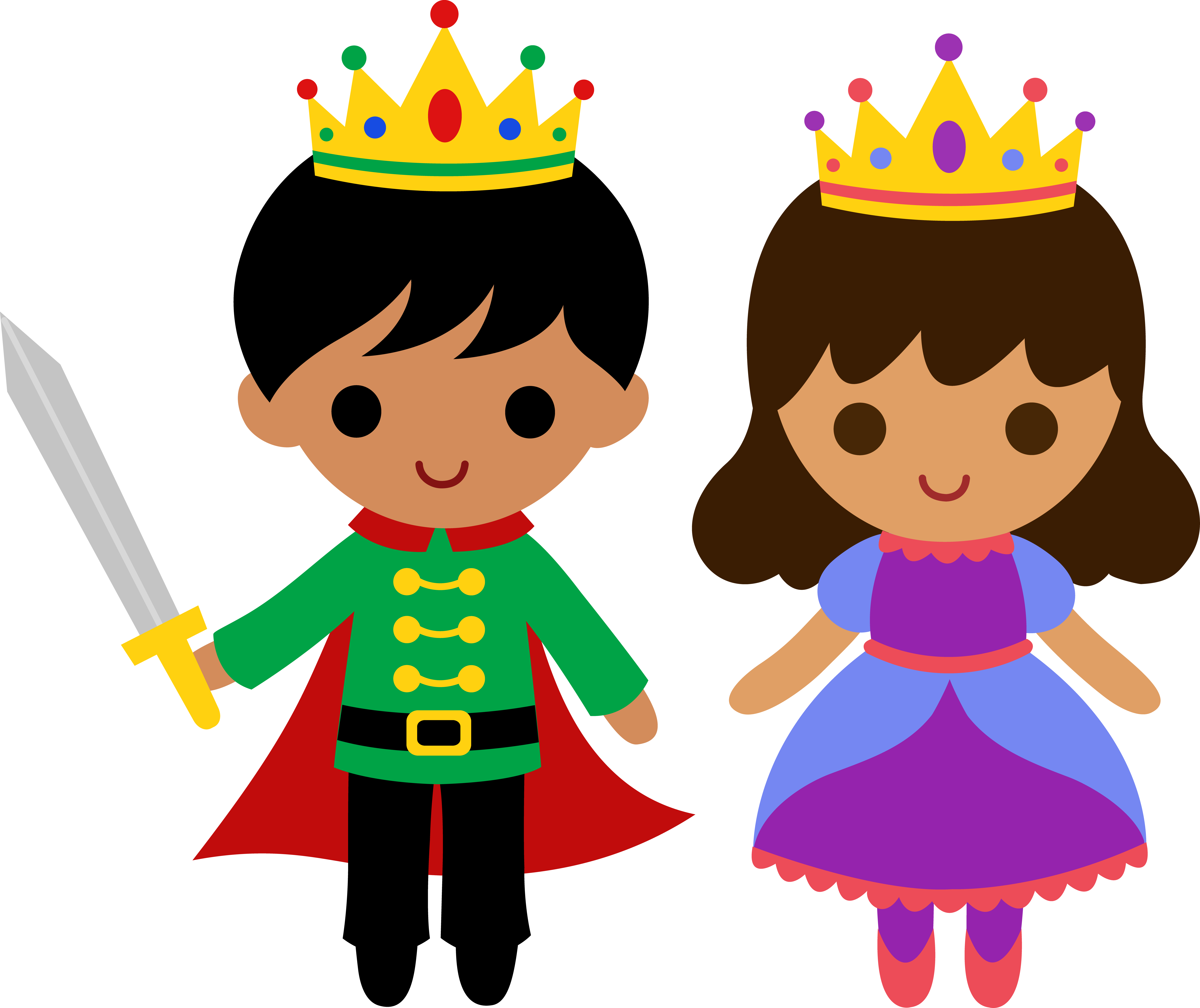Princess clipart cute. Prince and free clip
