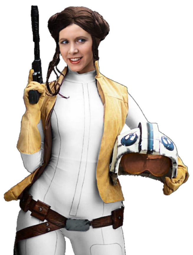 Leia drawing comic. Princess book png by