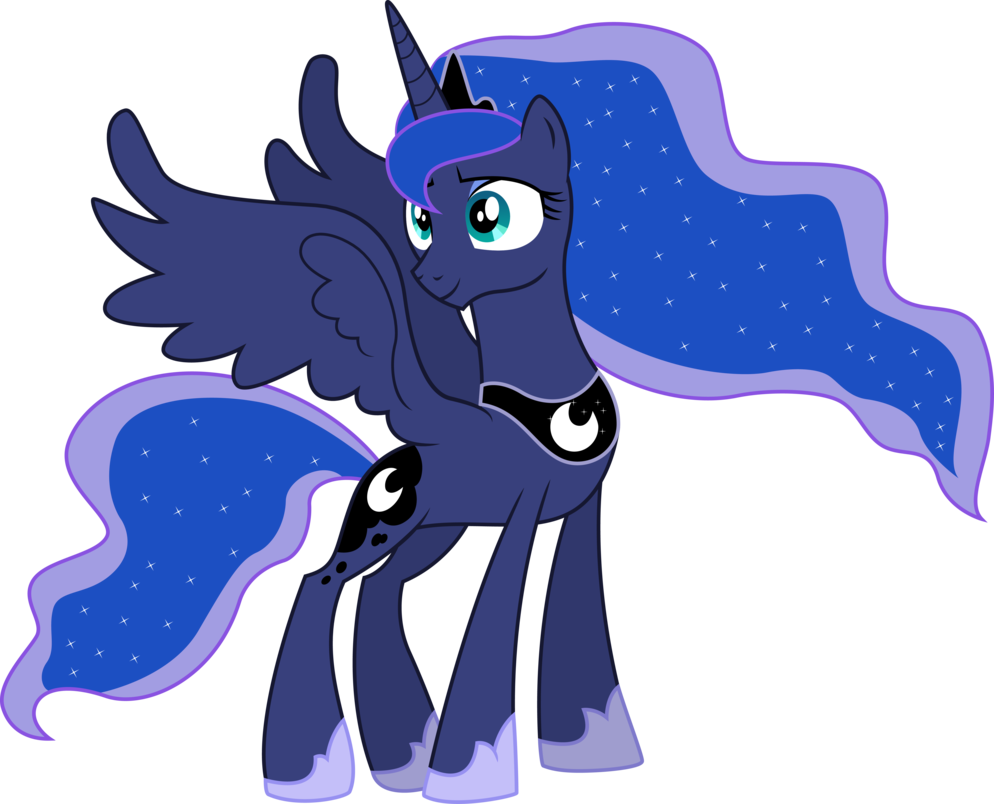 Princess luna png. Smiling vector trace from