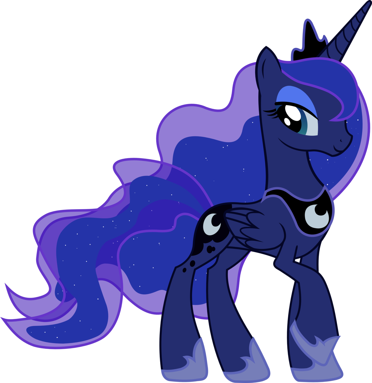 Character transparent my little pony. Image fanmade princess luna