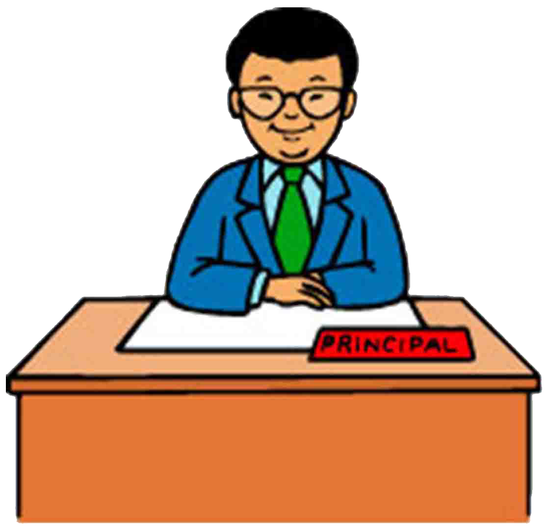 School . Principal clipart vector free download