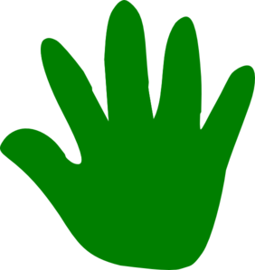 Print clipart right hand. Clip art library
