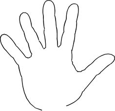 Print clipart tiny hand. Pattern use the printable