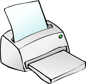 Printer clipart computer component. Free picture of