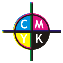 Print vector color cmyk. Printing registration wikipedia exaggerated