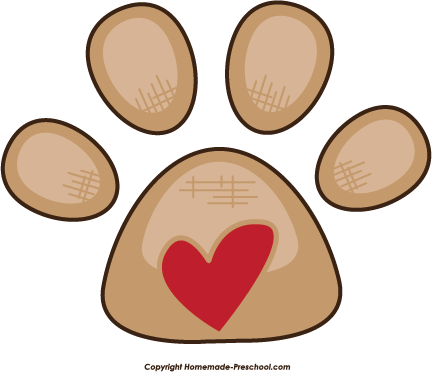 Prints clipart pre school. Free paw click to