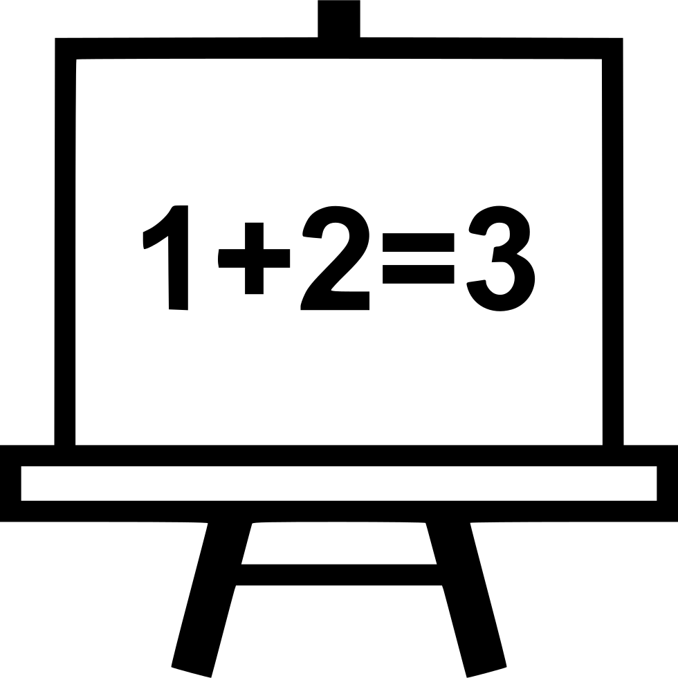 math black and white png