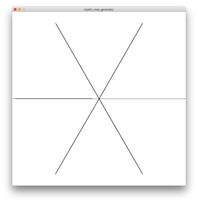 Processing drawing. X number of lines