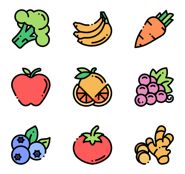 Produce vector. Pineapple icons free fruits