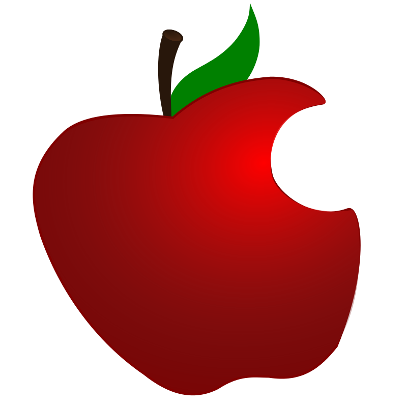 Produce vector clipart. Collection of free bitten