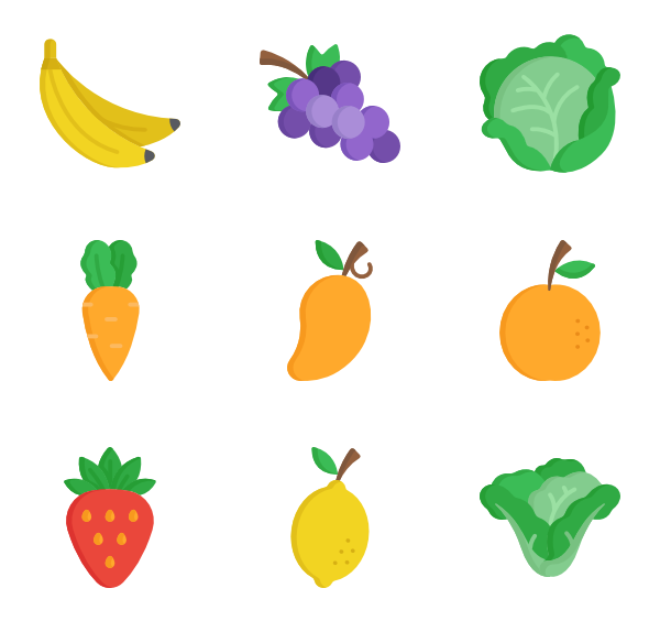 Vector vegetables background. Healthy food icon