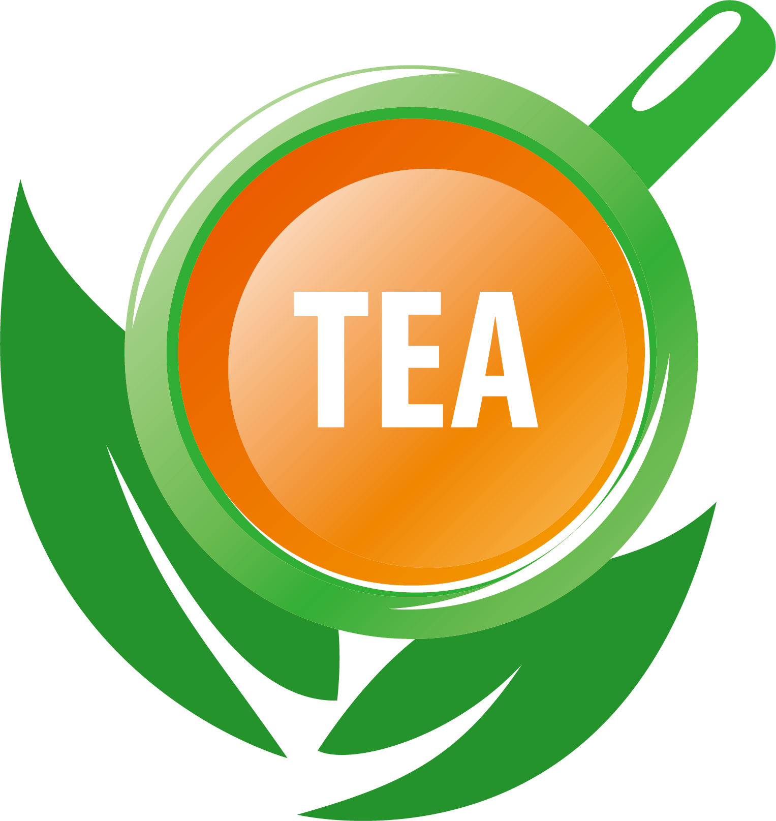 Produce vector illustration. Tea logo green cup