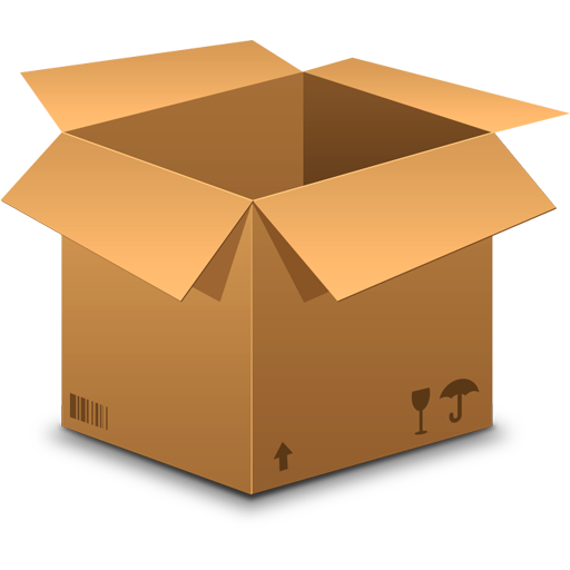 Package vector box. Corrugated cartons buy printed