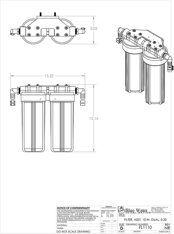 Product drawing technical. Drawings blue water desalination