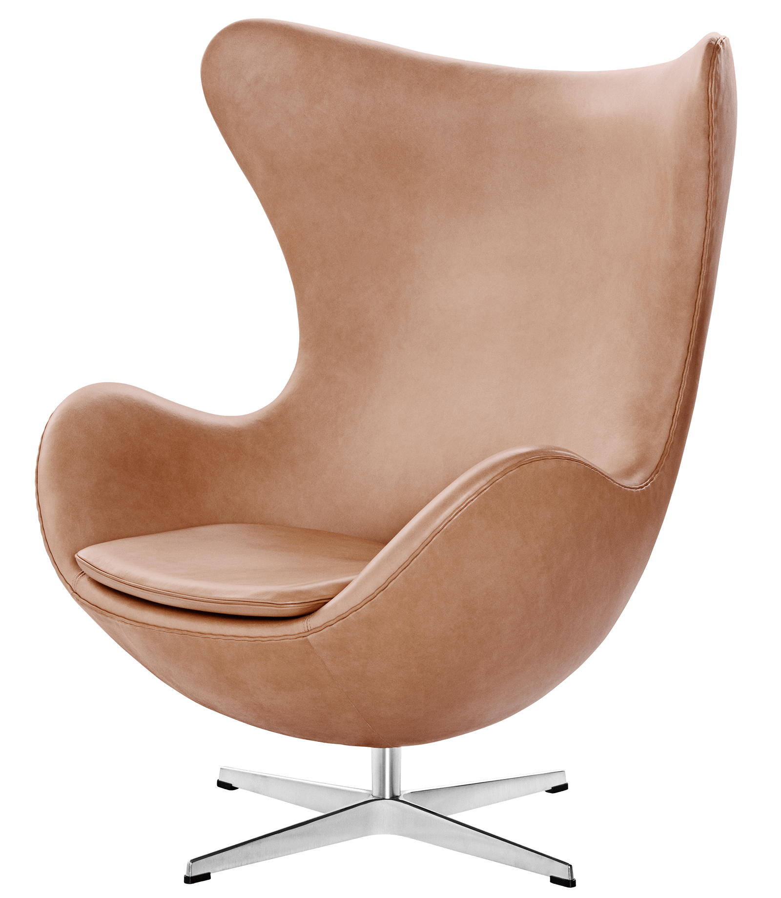 Armchair drawing lounge chair. Egg easy leather arne