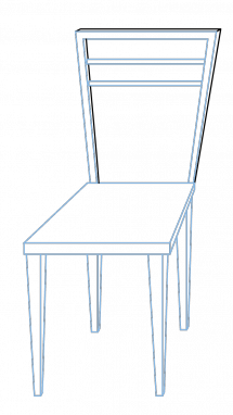 product drawing chair