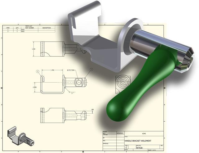 Product drawing development. Engineering services