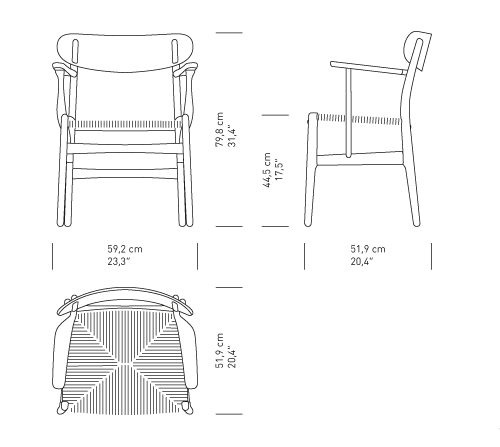 Armchair drawing floor plan. Ch dining chair by