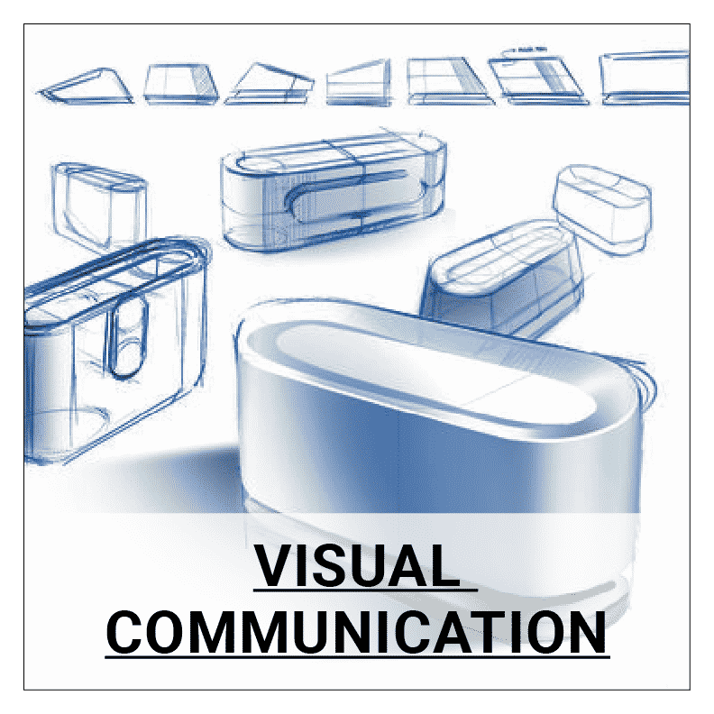 Product drawing industrial design. Visual communication decore