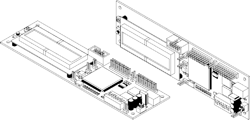 Electronics drawing technology. Board isometric view online