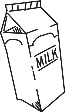 Product drawing milk. Chia health warrior and