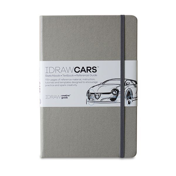 Product drawing practice. Idraw cars sketchbook