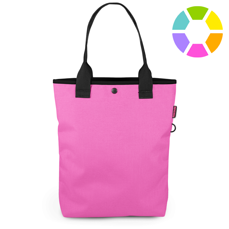 Product drawing purse. The city tote rickshaw