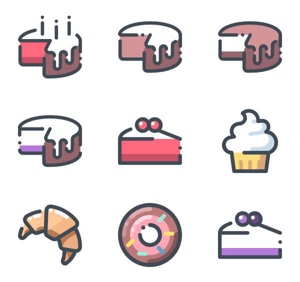 Product vector bakery. Icons free desserts
