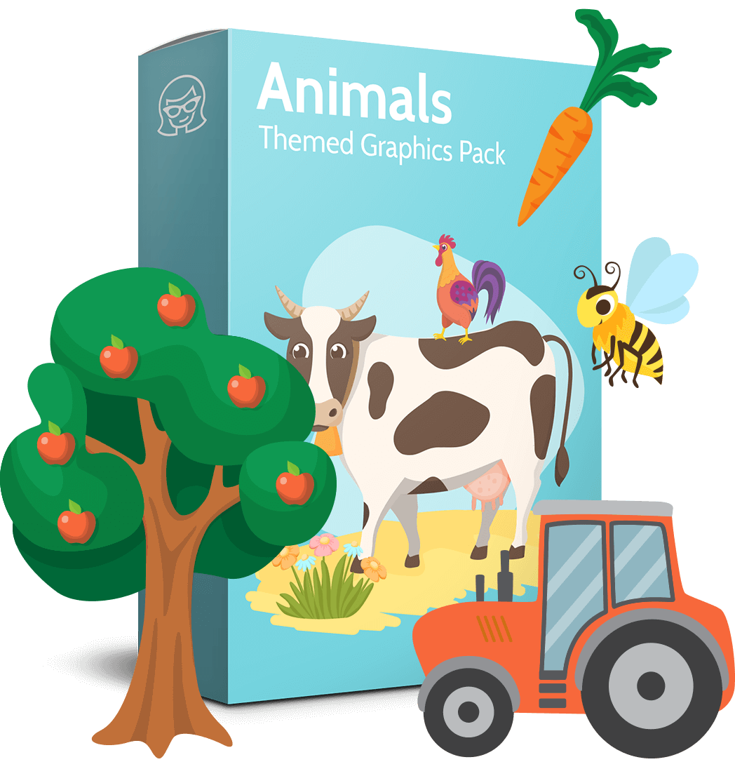 Product vector dairy. Animals collection on the