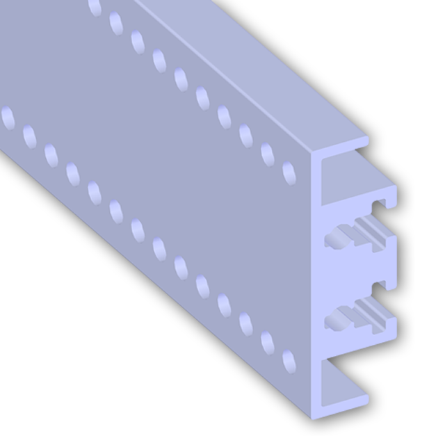 Product vector electronics. Center extrusion rail