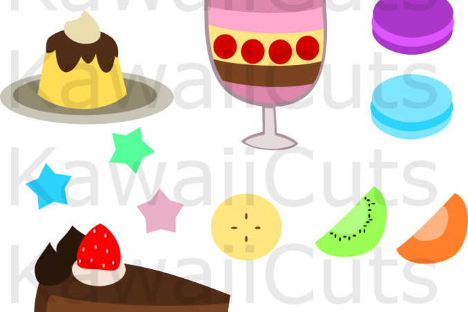 Product vector food. Cute sweets svg cut