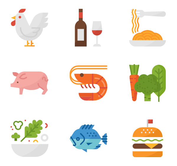 Product vector food. Snack icons free