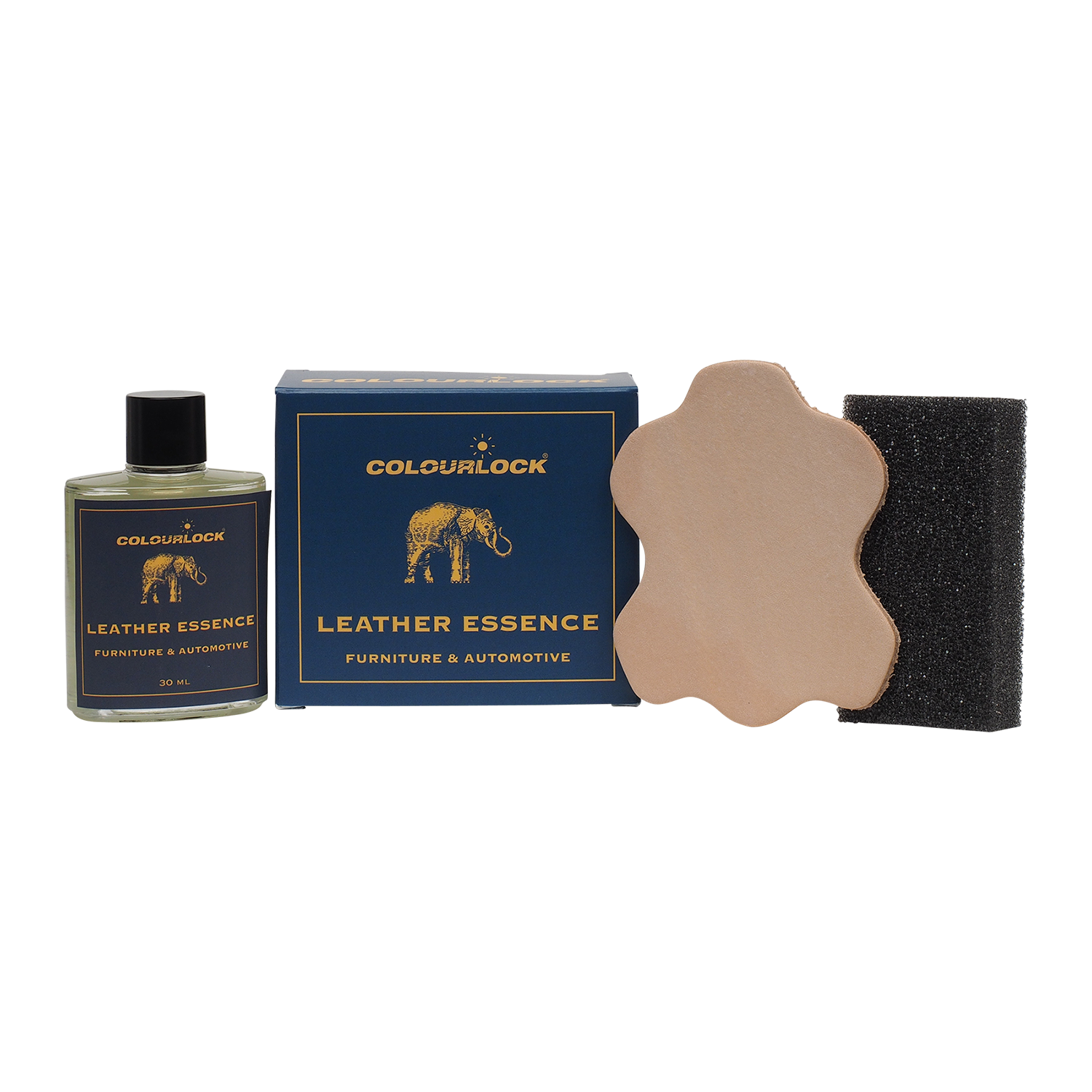 Product vector leather. Essence kit scented freshener