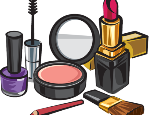 Product vector makeup. Clip black and