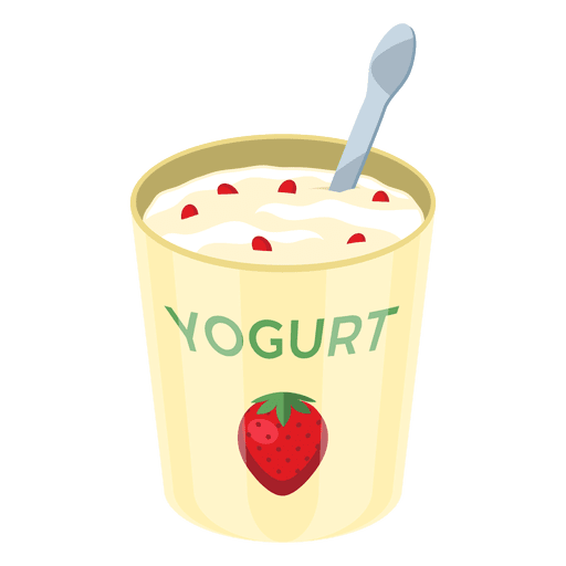 Product vector yogurt. Strawberry pot transparent png